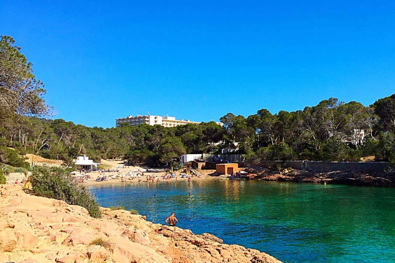 Cala Gracio beach in San Antonio Ibiza