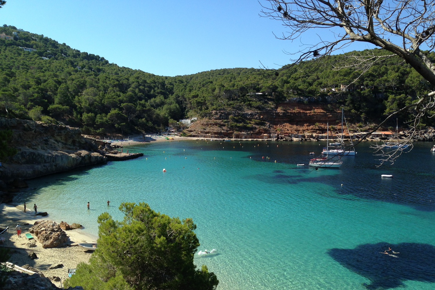 Cala Salada beach in San Antonio Ibiza