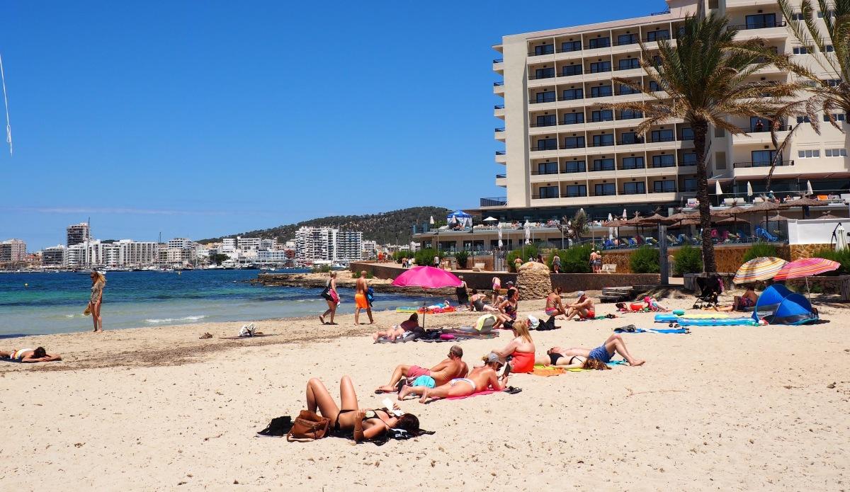 Es Pouet beach in San Antonio Ibiza