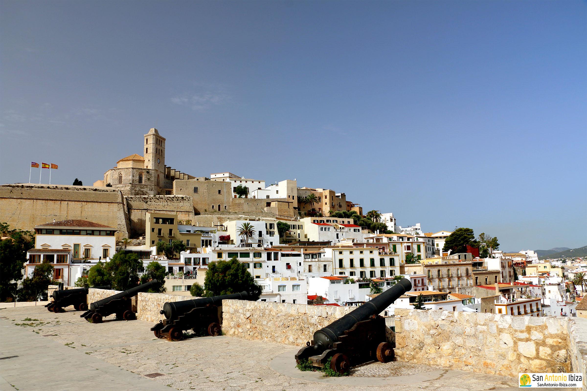 Ibiza Old Town Eivissa Dalt Vila - Cannons at Baluard de Santa Llucia