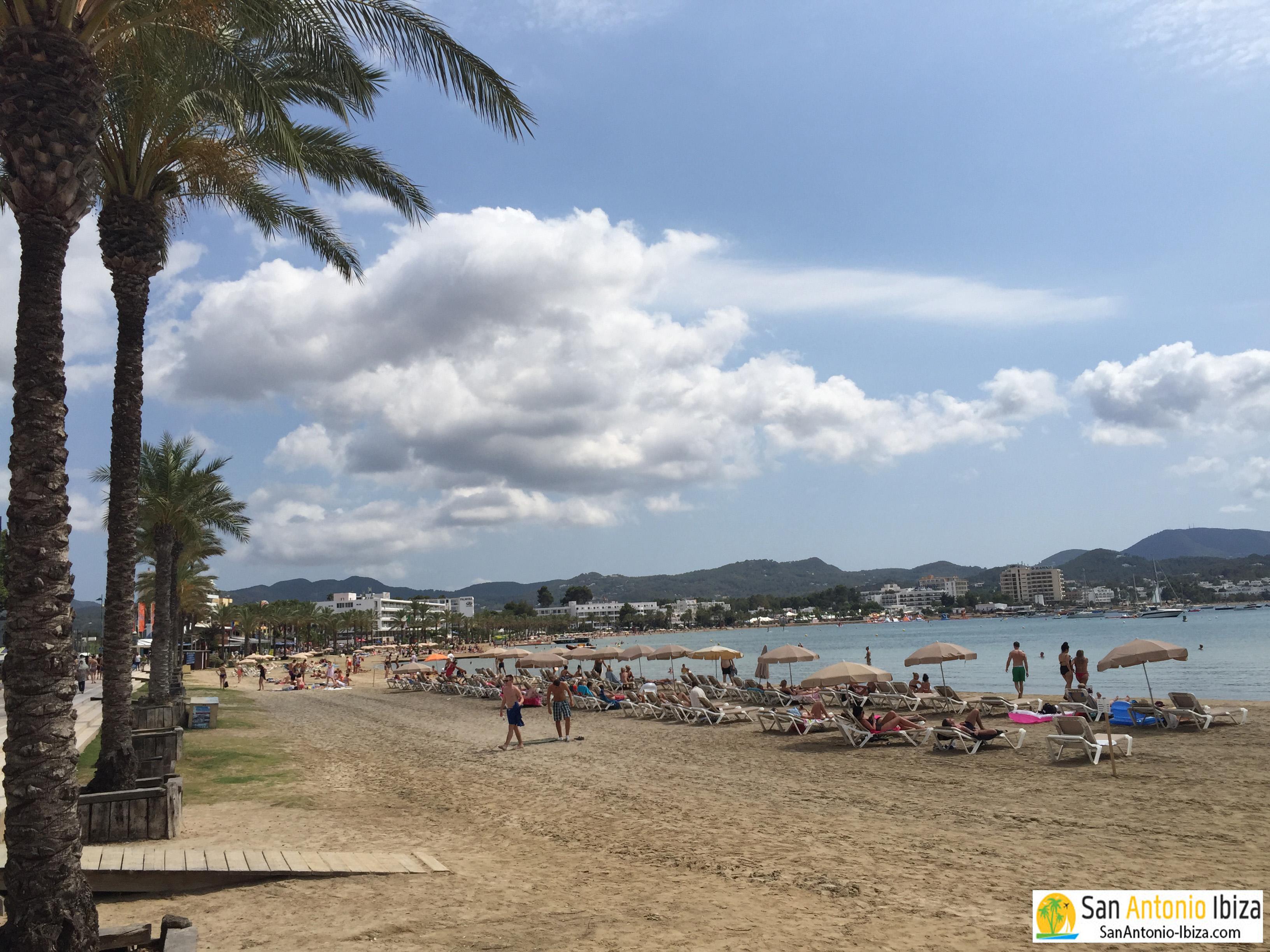 San Antonio Ibiza beach of Platja de s Arenal